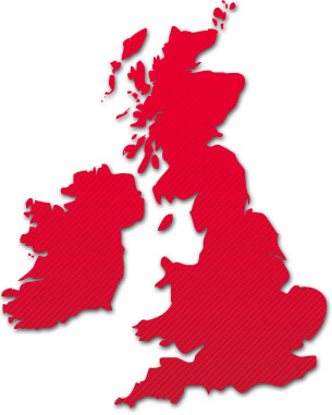 image of the UK representing the DAB coverage
