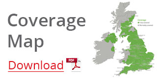 All View a map of our engineer installation network coverage of the UK